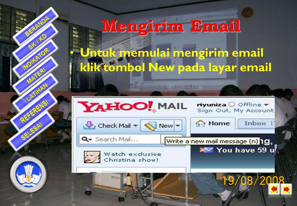 Selanjutnya akan tampil Layar Utama Yahoo!Mail