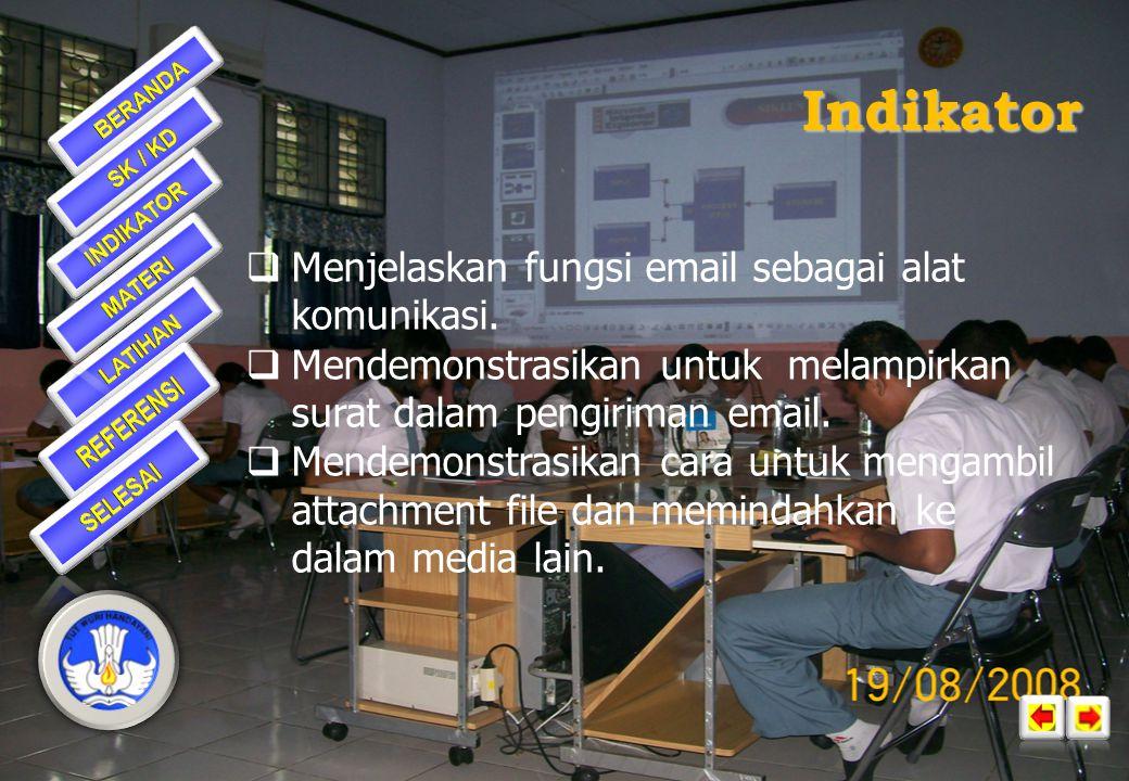 Standar Kompetensi 1: Menggunakan Internet untuk Keperluan Informasi dan Komunikasi Kompetensi Dasar 1.5. Menggunakan e-mail untuk keperluan informasi