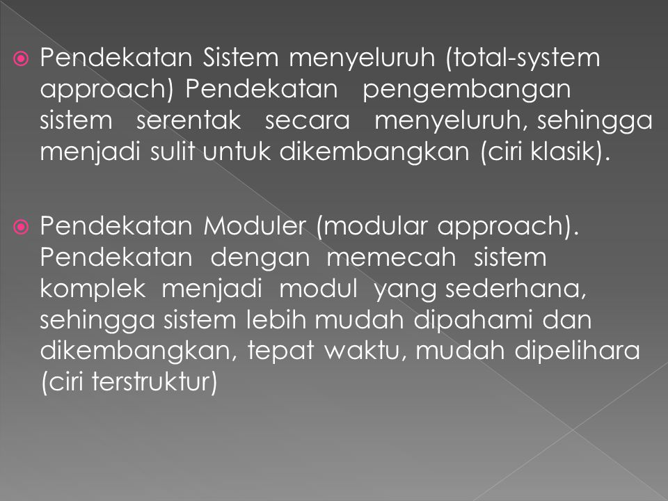  Pendekatan Lompatan jauh (great loop approach).
