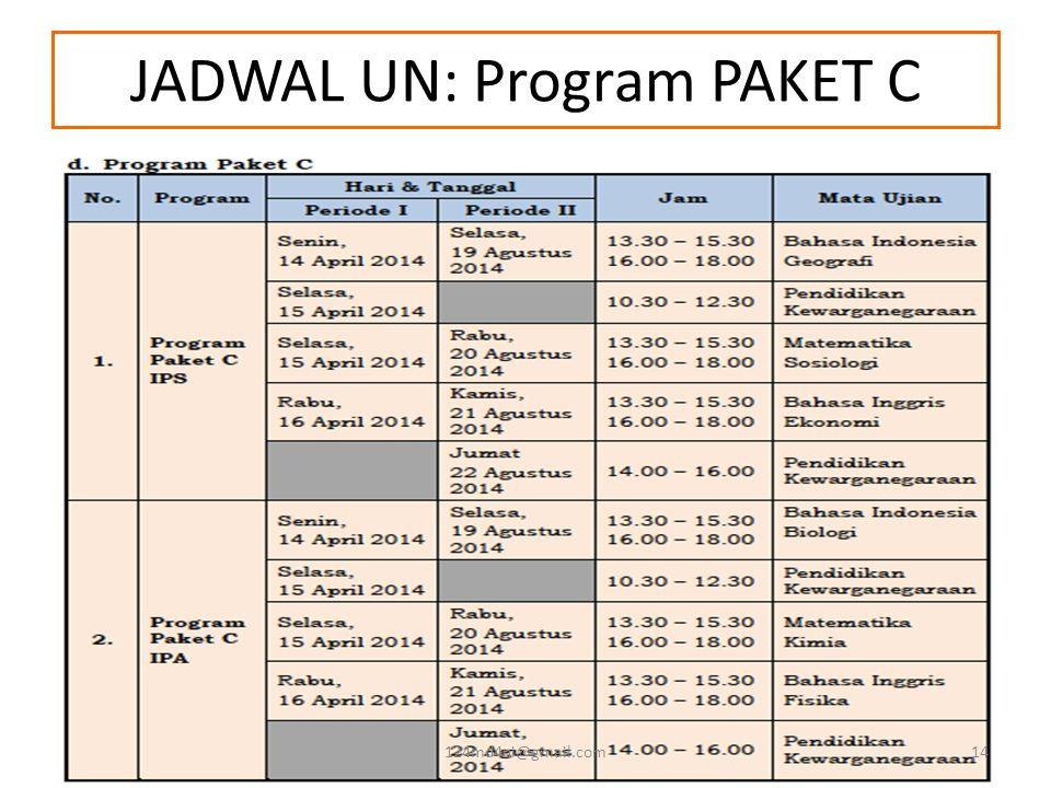 JADWAL UN: Program PAKET C 124md4ni@gmail.com14