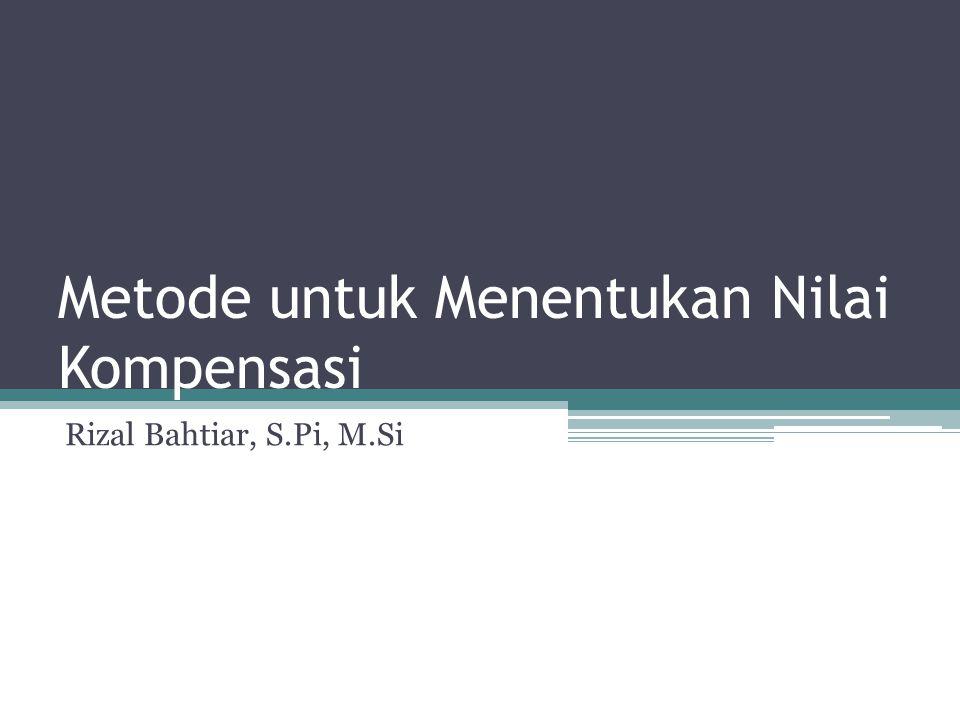 Metode untuk Menentukan Nilai Kompensasi Rizal Bahtiar, S.Pi, M.Si