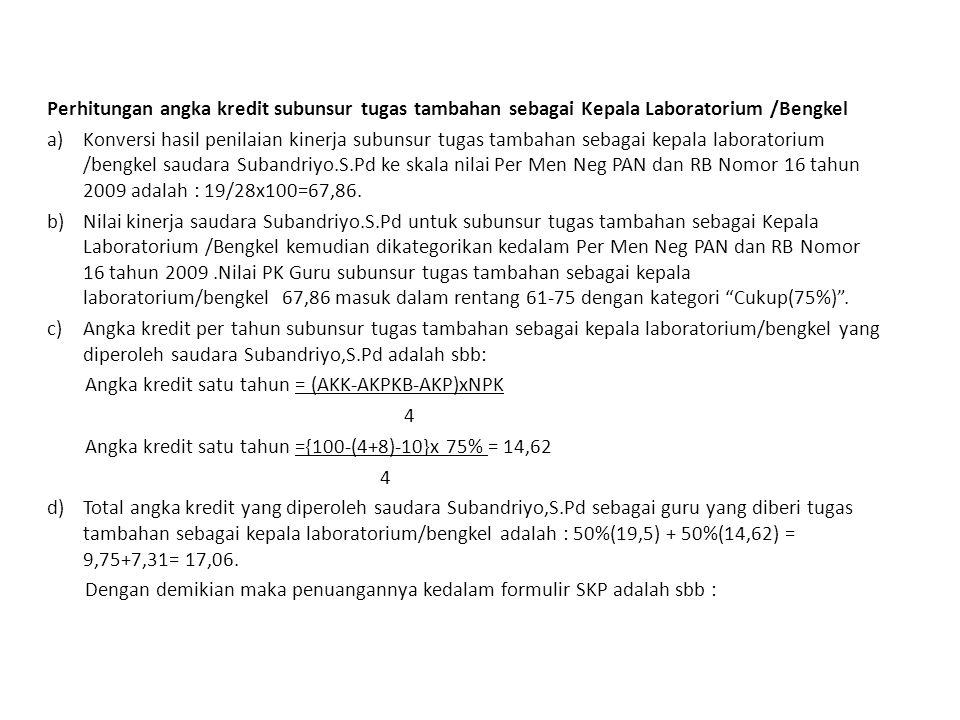 28 Jakarta, 4 Januari 2013 Pejabat PenilaiPegawai Negeri Sipil Yang Dinilai ( Subaryadi.
