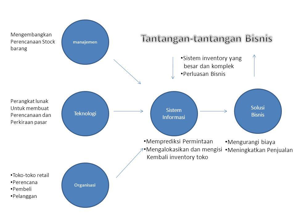 Tantangan-tantangan Menajemen 1.Pembangunan sistem Informasi yang dapat secara nyata memenuhi persyaratan informasi eksekutif 2.Menciptakan pelaporan dan proses pengambilan keputusan manajemen secara lebih baik