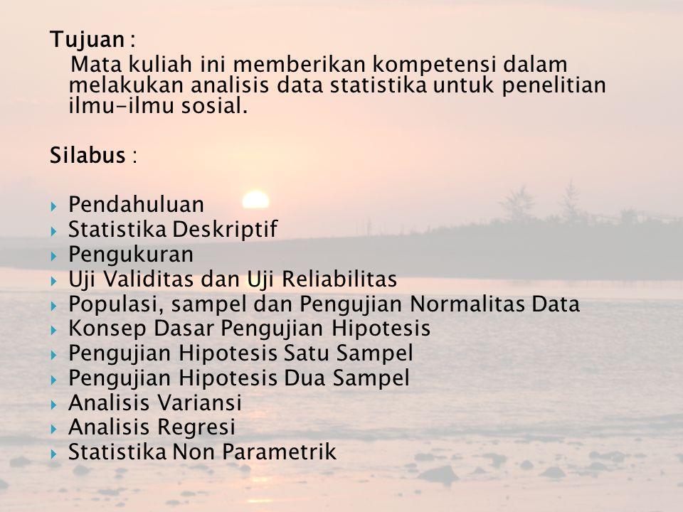  Penelitian : cara ilmiah untuk mendapatkan data dengan tujuan dan kegunaan tertentu.