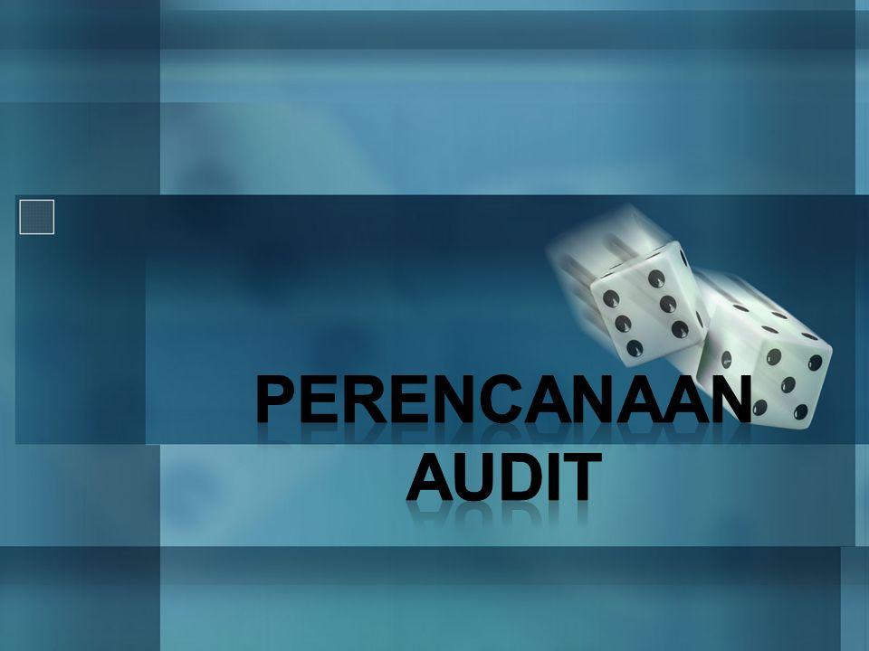 Lanjutan… •Model risiko audit dapat digunakan terutama untuk tahap perencanaan dalam menentukan berapa besar bahan bukti yang harus dikumpulkan dalam tiap siklus.