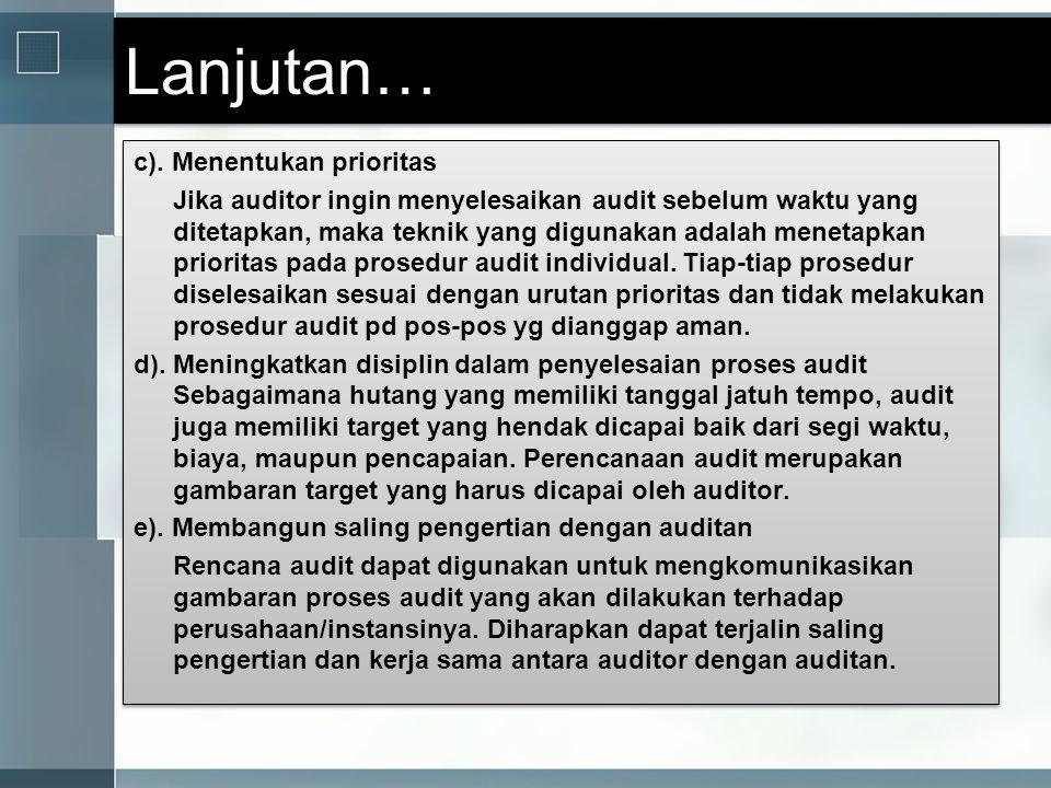 Siapa yang Menyiapkan dan Menelaah Program Audit.
