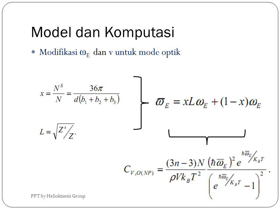 Model dan Komputasi PPT by Heliokinesis Group  Modifikasi ω E dan v untuk mode optik