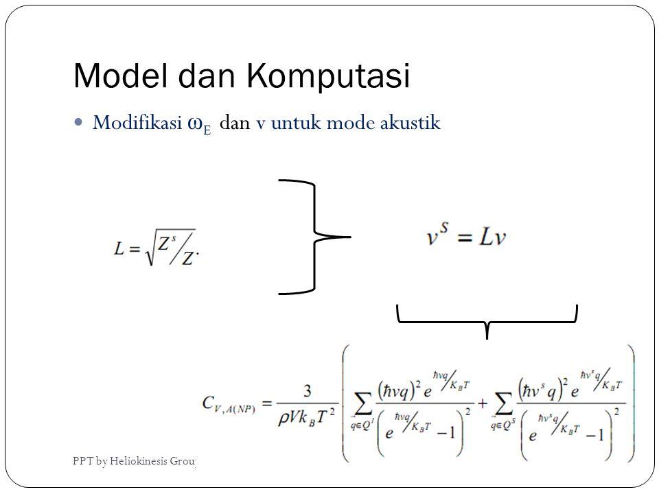 Model dan Komputasi PPT by Heliokinesis Group  Modifikasi ω E dan v untuk mode akustik