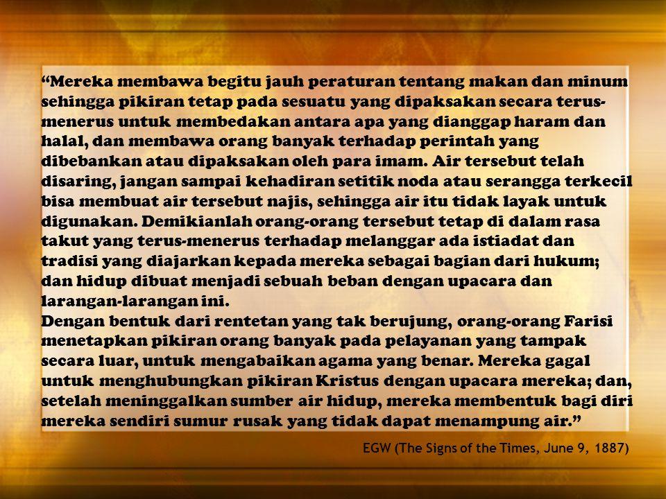 Yesus berkata pula kepada mereka: Sungguh pandai kamu mengesampingkan perintah Allah, supaya kamu dapat memelihara adat istiadatmu sendiri. (Markus 7:9) Yesus ditanya tentang melanggar adat istiadat nenek moyang.