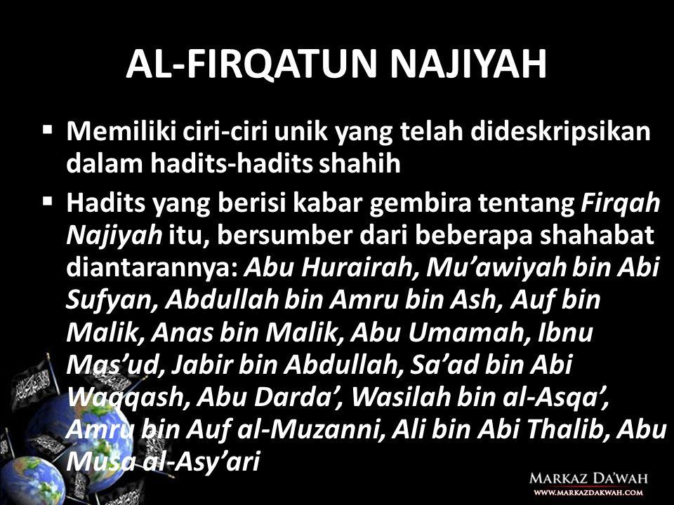 3.Syaikh Abdul Aziz bin Baz rahimahullah ketika ditanya tentang golongan yang selamat, beliau menjawab, Mereka adalah orang- orang Salaf dan setiap orang yang mengikuti jalan para Salafush Shaleh (Rasulullah, para Sahabat dan setiap orang yang mengikuti jalan petunjuk mereka).