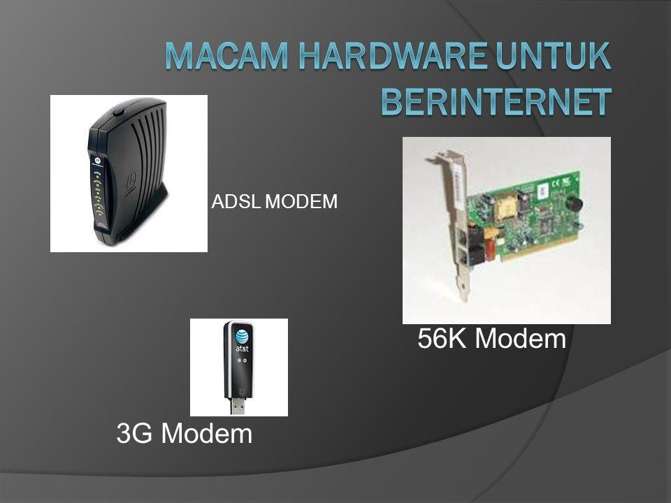ADSL MODEM 3G Modem 56K Modem