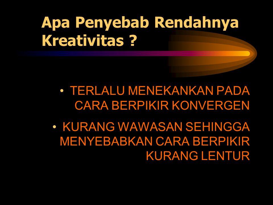 MERASA DIRI TIDAK KREATIF, BISA MENGAKIBATKAN SESEORANG BENAR-BENAR TIDAK KREATIF !!.