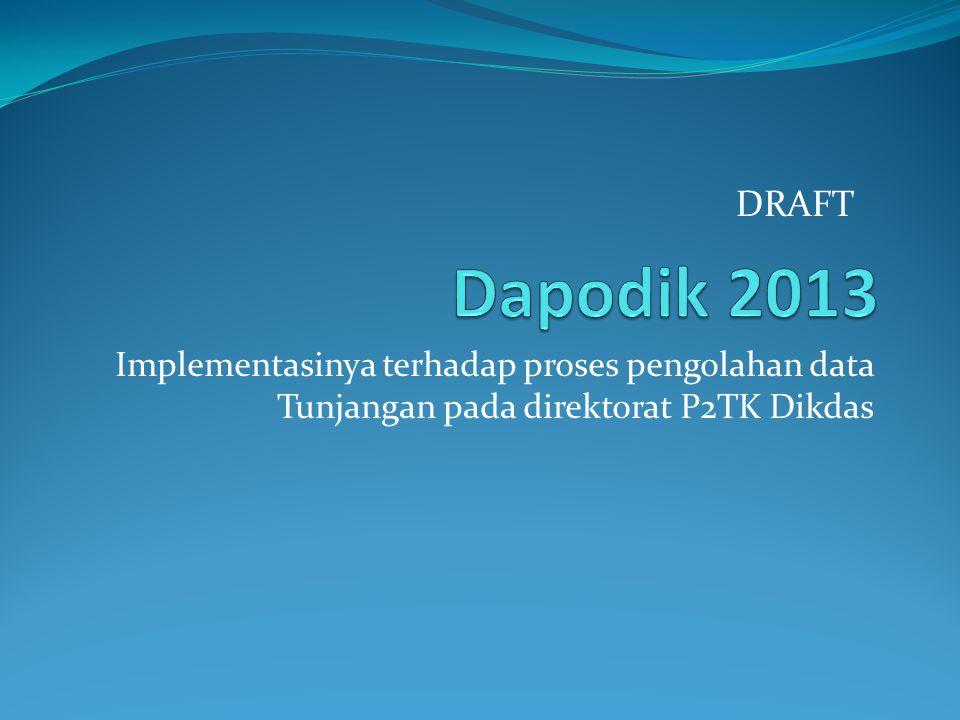 Implementasinya terhadap proses pengolahan data Tunjangan pada direktorat P2TK Dikdas DRAFT