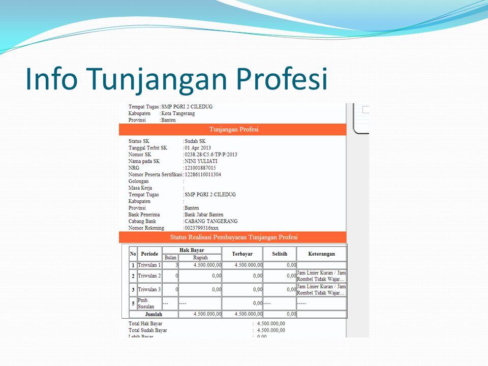 Info Tunjangan Profesi