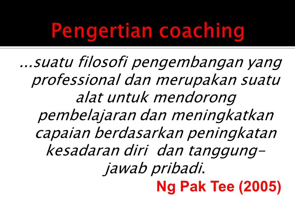 1.Memacu kerjasama (pada team coaching).