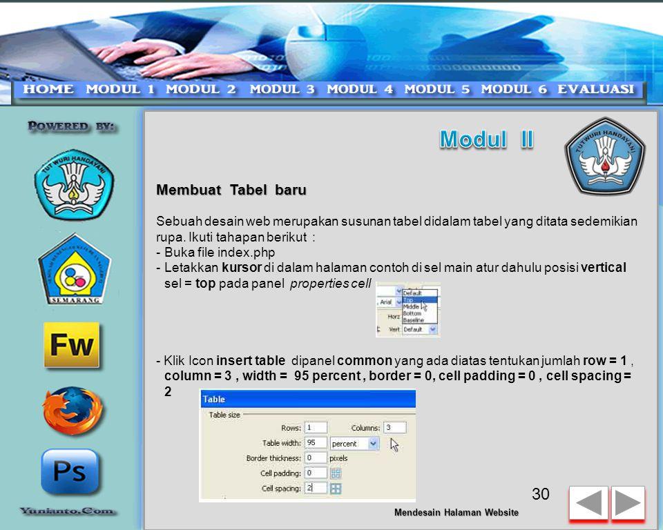 Editing Halaman Website - Buat gambar menjadi background untuk area sel table yang akan diisikan materi.