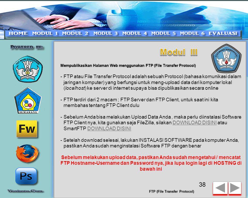 Mempublikasikan Halaman Web menggunakan FTP (File Transfer Protocol) 37