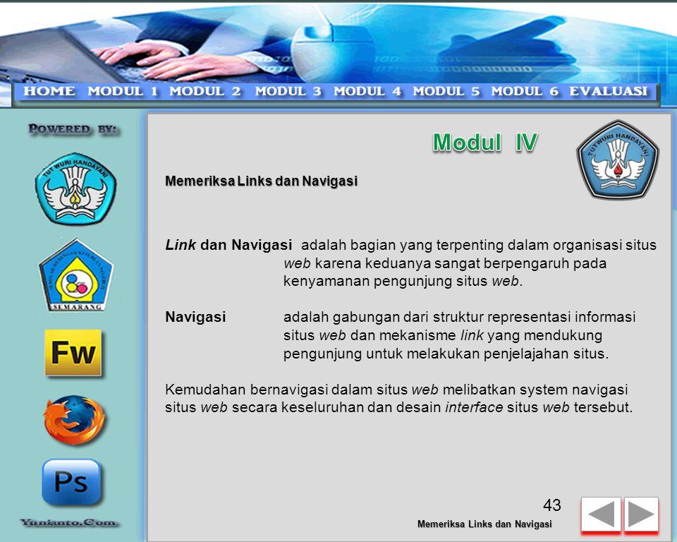 Memeriksa Links dan Navigasi 42