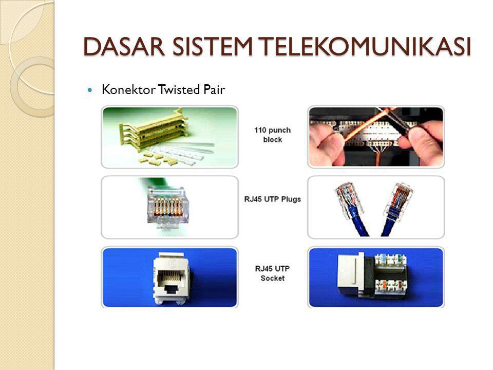 DASAR SISTEM TELEKOMUNIKASI  Konektor Twisted Pair