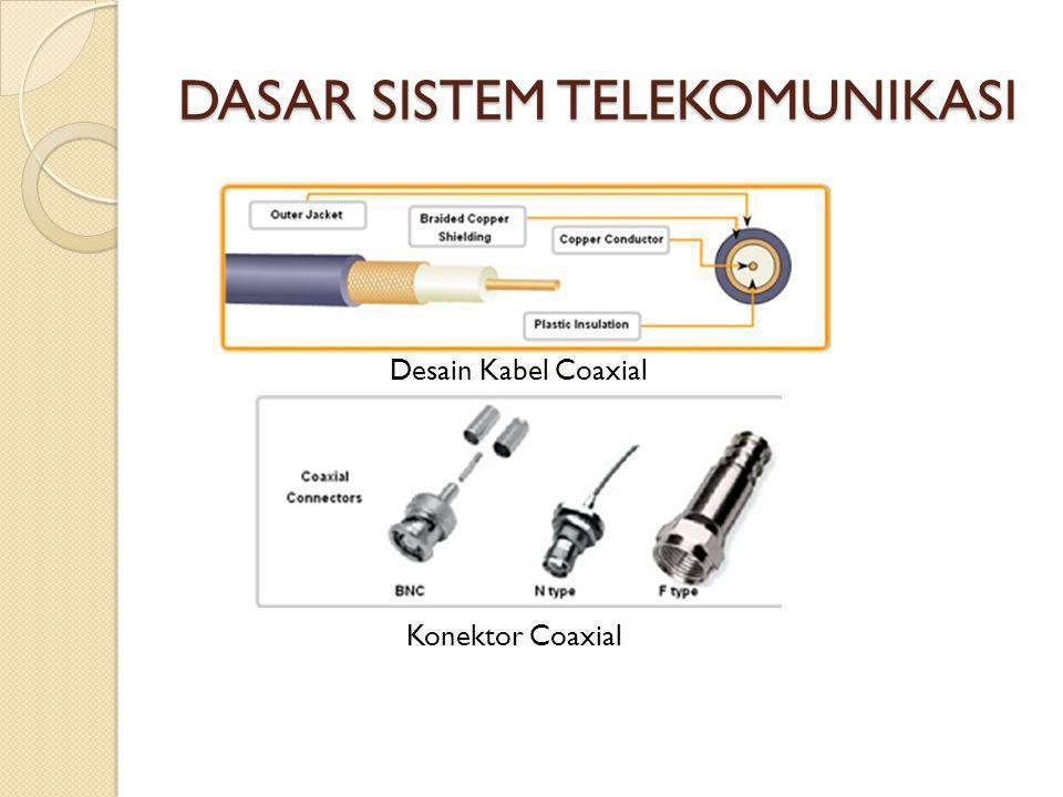 DASAR SISTEM TELEKOMUNIKASI Desain Kabel Coaxial Konektor Coaxial