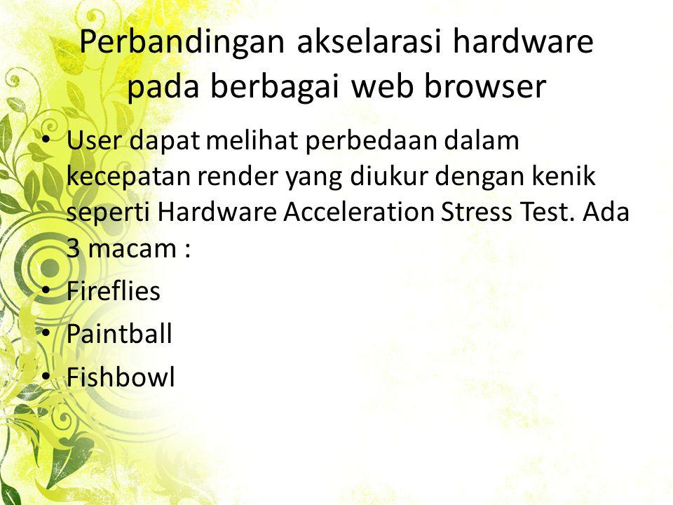 • Networking – bertanggung jawab untuk semua komunikasi antara klien dan server, termasuk caching lokal konten web.