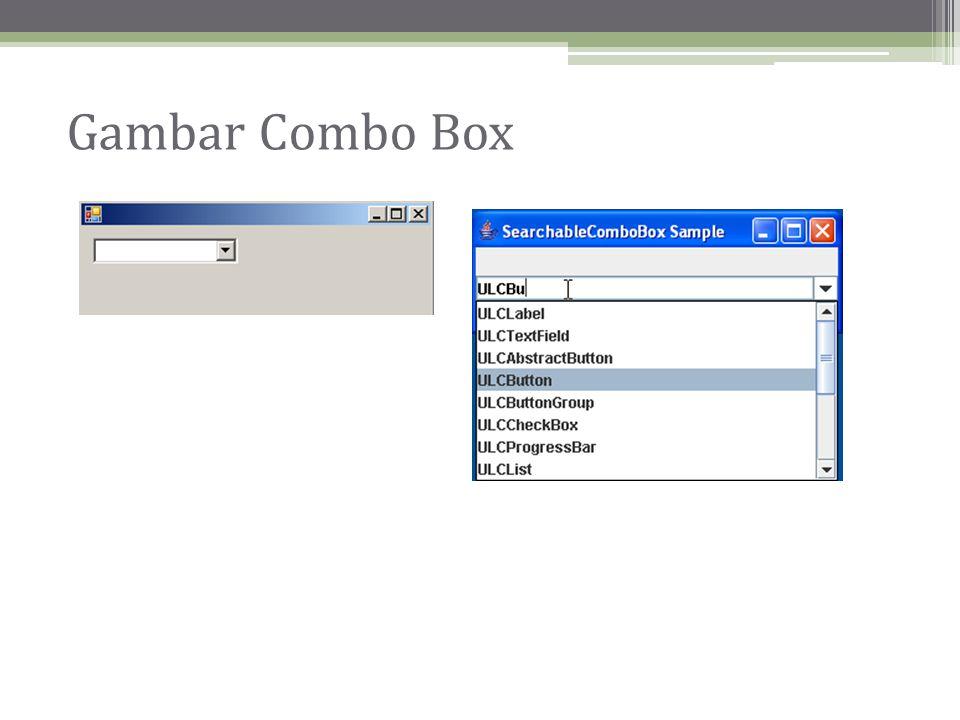 Gambar Combo Box