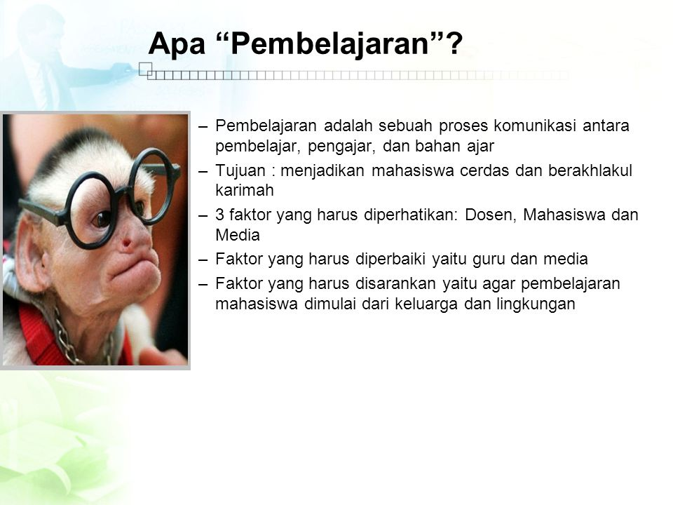 Apa Pembelajaran .
