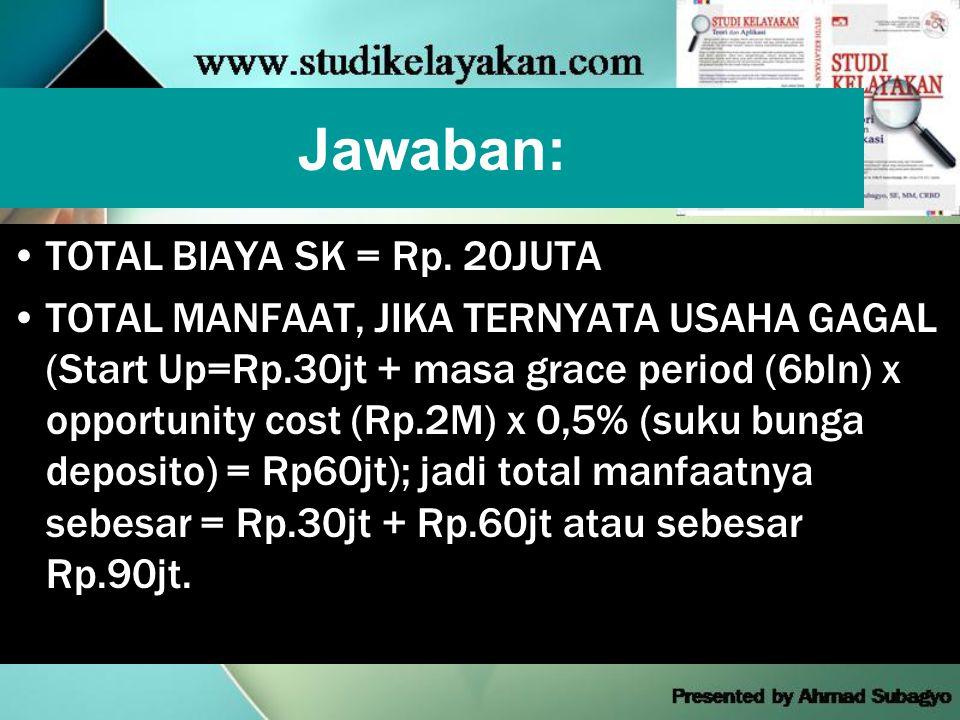 Jawaban: •TOTAL BIAYA SK = Rp.