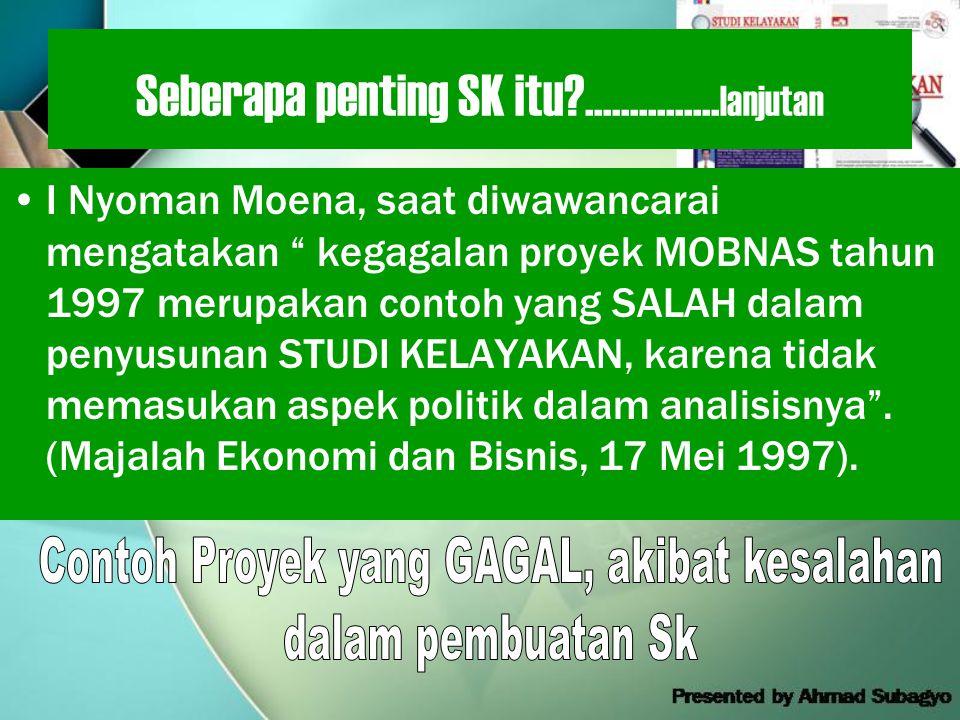 Seberapa penting SK itu?...............