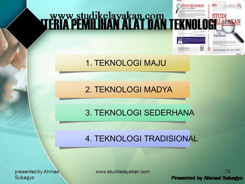 presented by Ahmad Subagyo www.studikelayakan.com74 3.