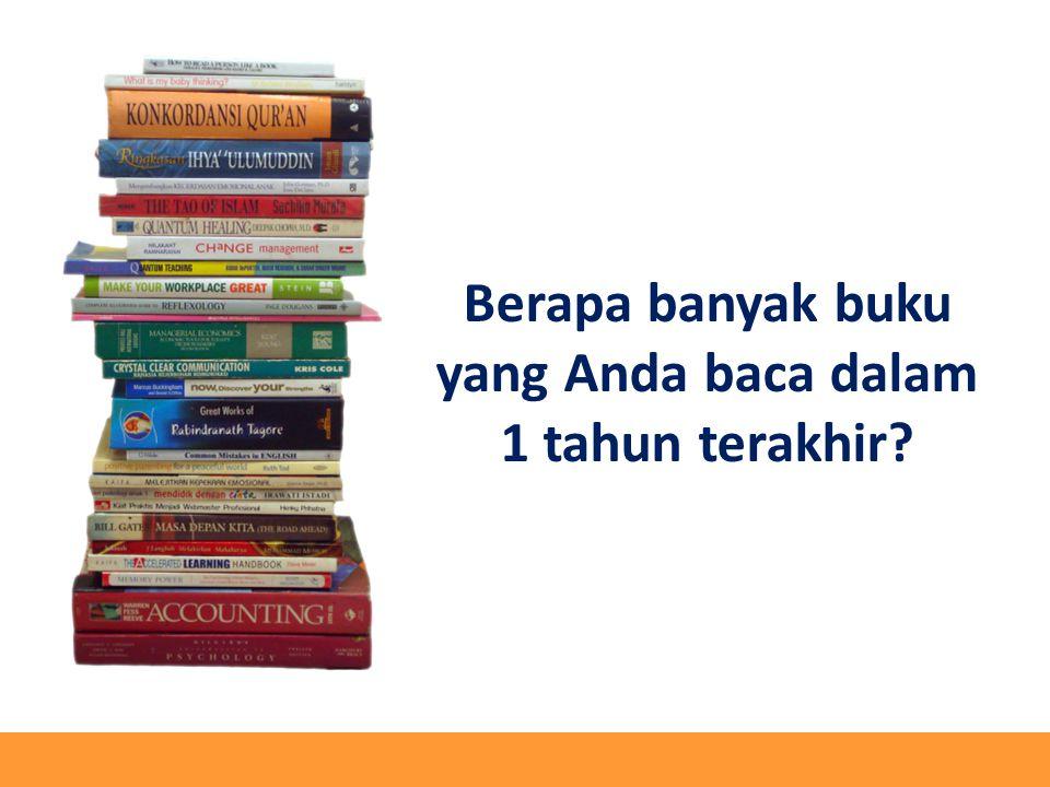 Berapa banyak buku yang Anda baca dalam 1 tahun terakhir?
