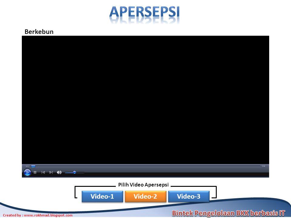 Created by : www.rokhmad.blogspot.com Berkebun Video-1 Video-2 Video-3 Pilih Video Apersepsi