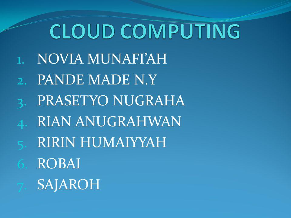 Cloud Computing Cloud computing adalah teknologi yang menggunakan internet dan server pusat untuk menjaga/mengelola data dan aplikasi.