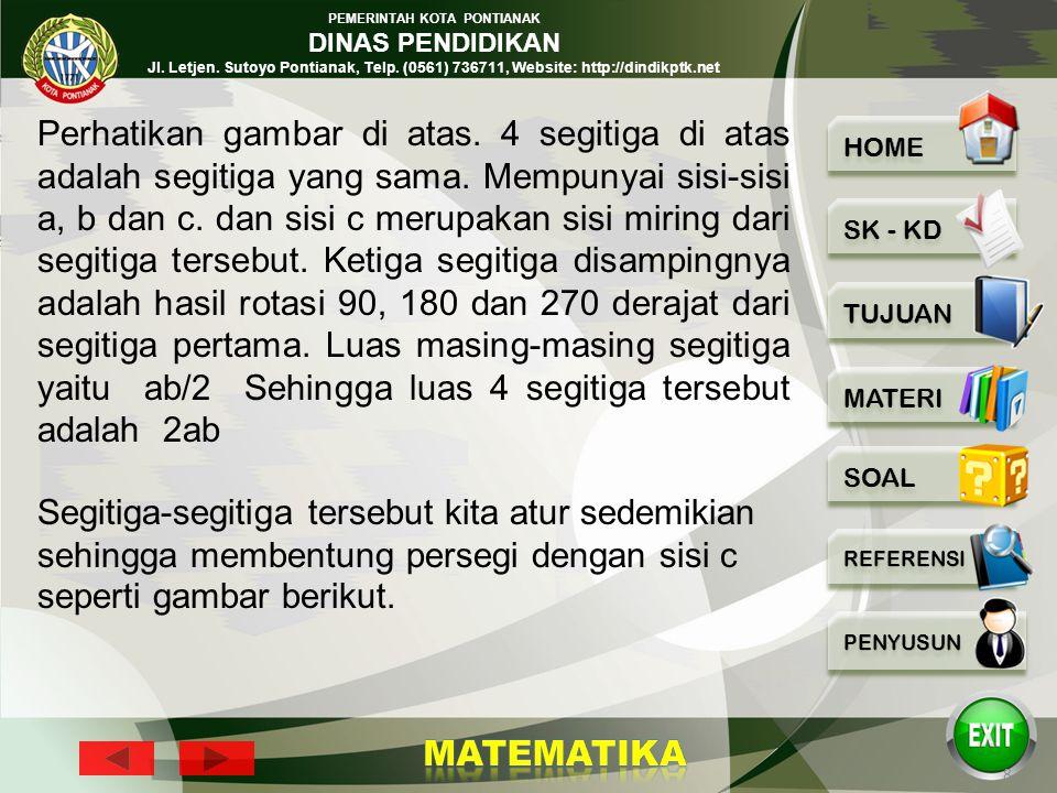 PEMERINTAH KOTA PONTIANAK DINAS PENDIDIKAN Jl. Letjen. Sutoyo Pontianak, Telp. (0561) 736711, Website: http://dindikptk.net 7 p Bukti 1 Disediakan 4 b