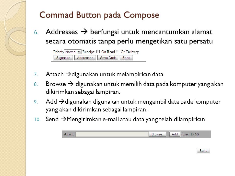 Commad Button pada Compose 6.
