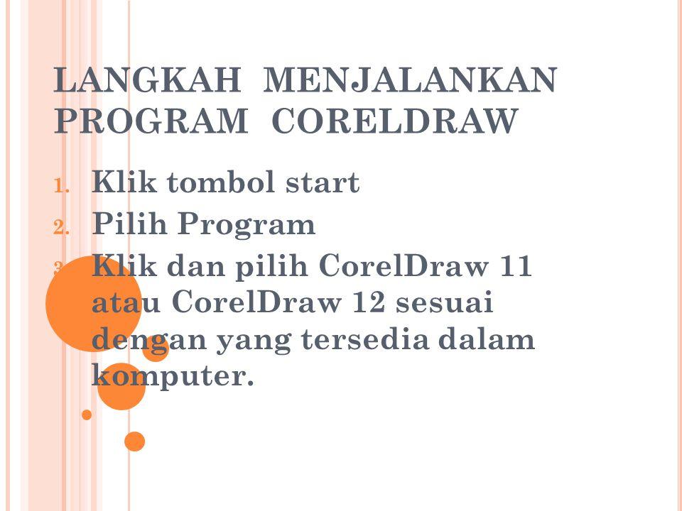 PROGRAM APLIKASI DESAIN GRAFIS BERBASIS VEKTOR & BITMAP (CORELDRAW) Sebuah program yang memberikan kemudahan pada desainer dan IT serta kemudahan para