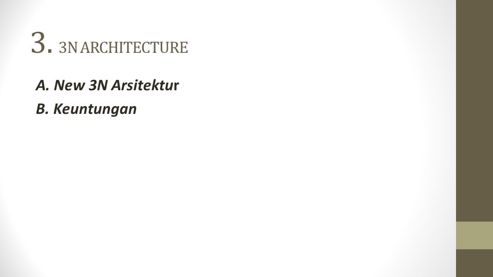 3.3N ARCHITECTURE A.