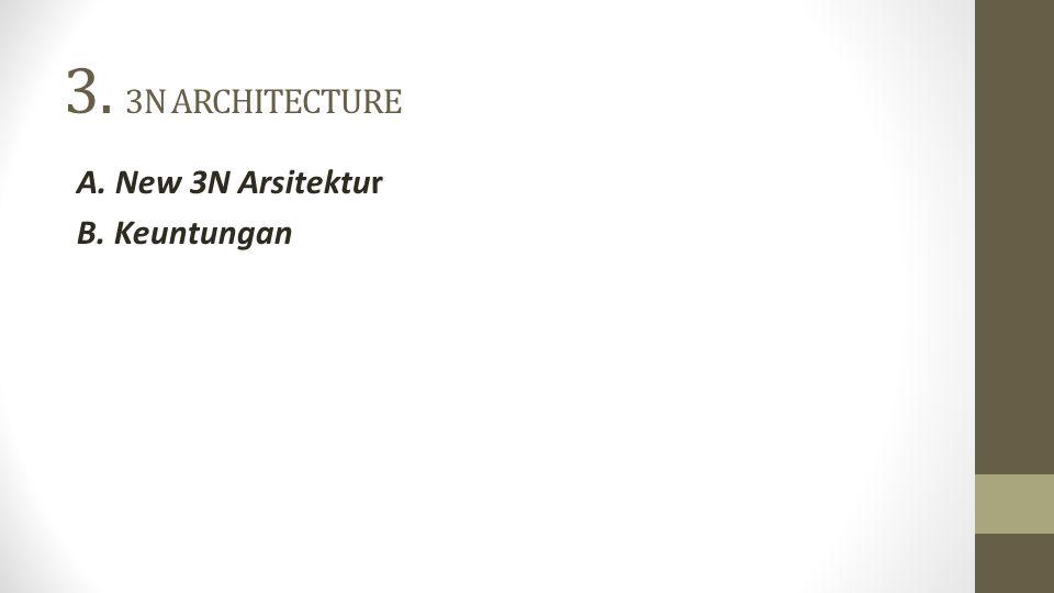 3. 3N ARCHITECTURE A. New 3N Arsitektur B. Keuntungan