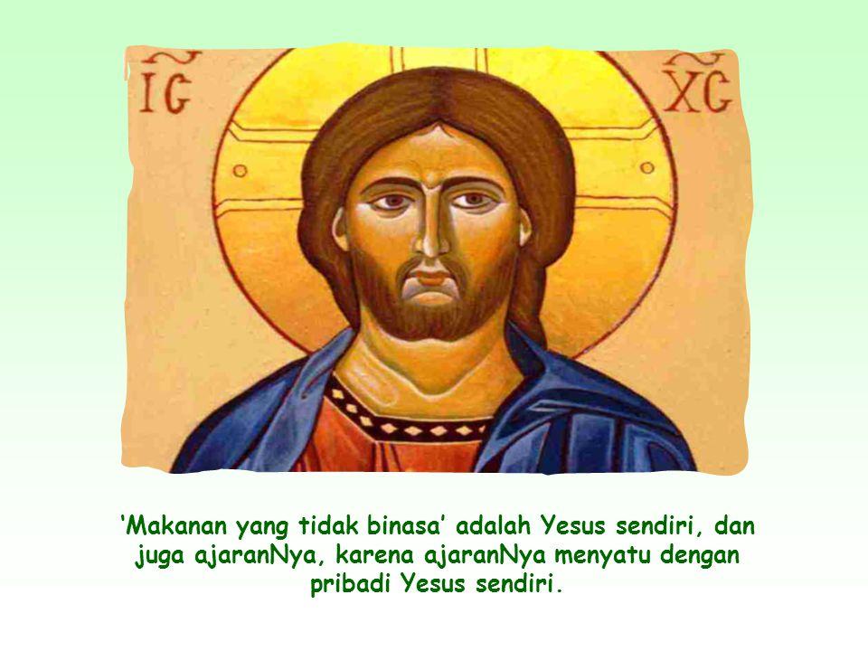 Dengan memperkenalkan diriNya sebagai 'roti hidup', Yesus tidak hanya menyatakan bahwa manusia perlu makan tubuhNya, yakni percaya akan SabdaNya guna memperoleh hidup yang kekal; tetapi juga ingin mendorong kita untuk 'mengalami' diriNya.