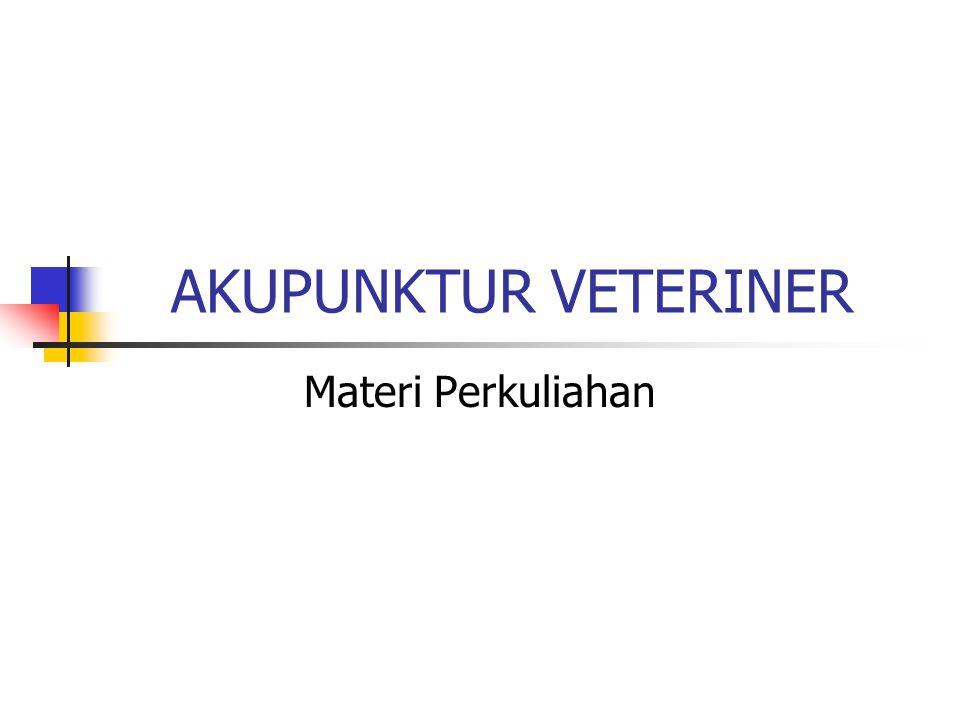 Akupunktur Veteriner  I.