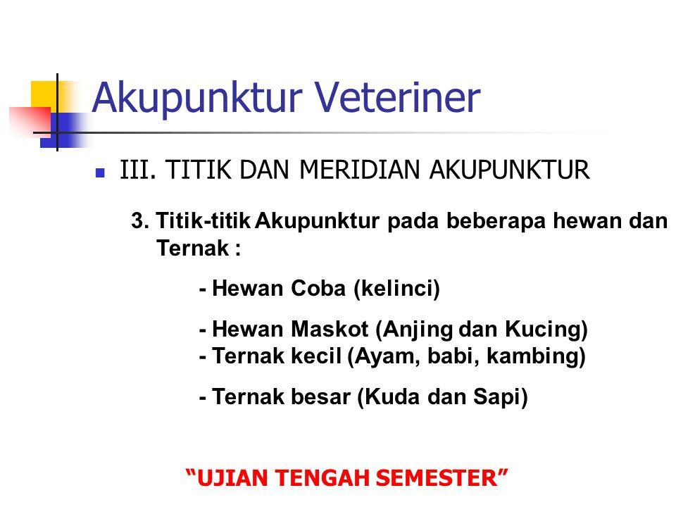 Akupunktur Veteriner  IV.PENELITIAN LAB.