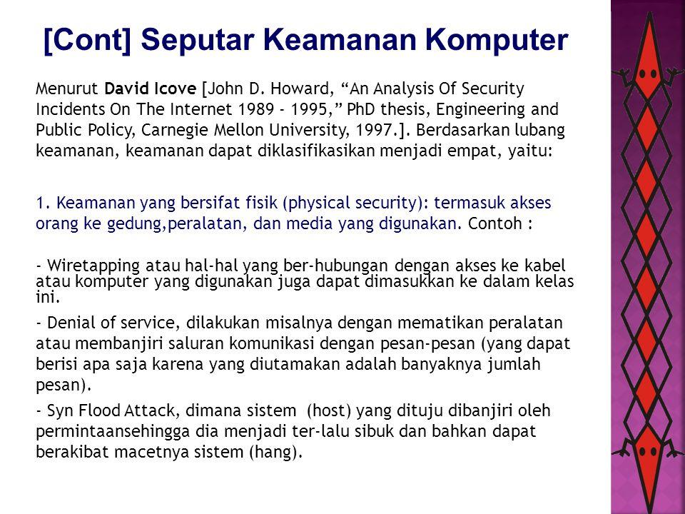 [Cont] Seputar Keamanan Komputer 2.