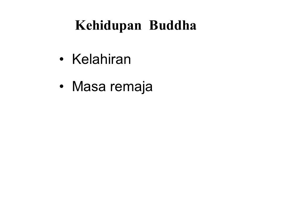 Kehidupan Buddha • Kelahiran • Masa remaja • Renunciation • After Enlightenment