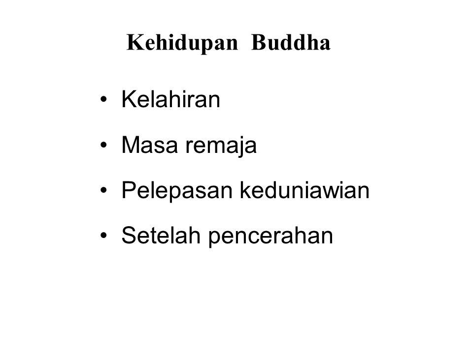 Kehidupan Buddha • Kelahiran • Masa remaja • Pelepasan keduniawian • Setelah pencerahan