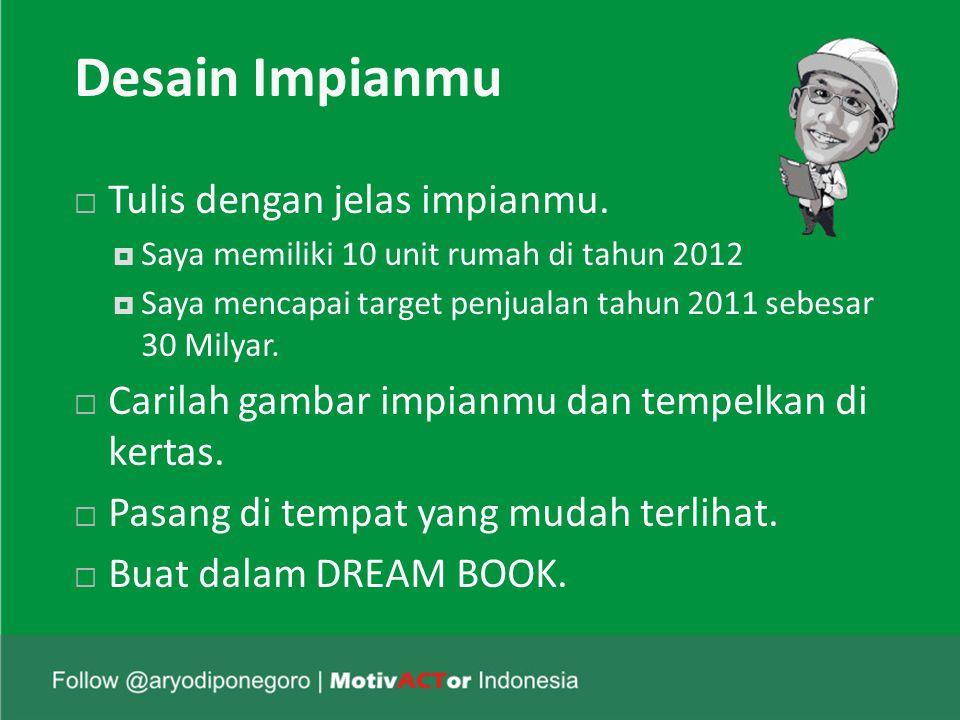 Desain Impianmu  Tulis dengan jelas impianmu.