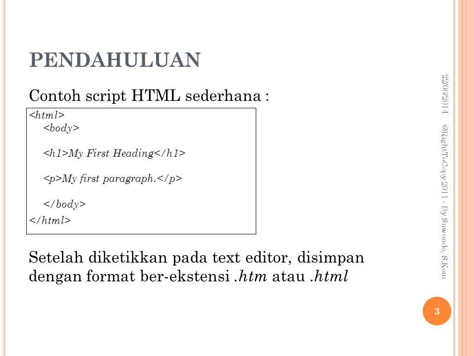 HTML FORMS AND INPUT Element Input : 1.TextField Membentuk inputan berupa text satu baris.