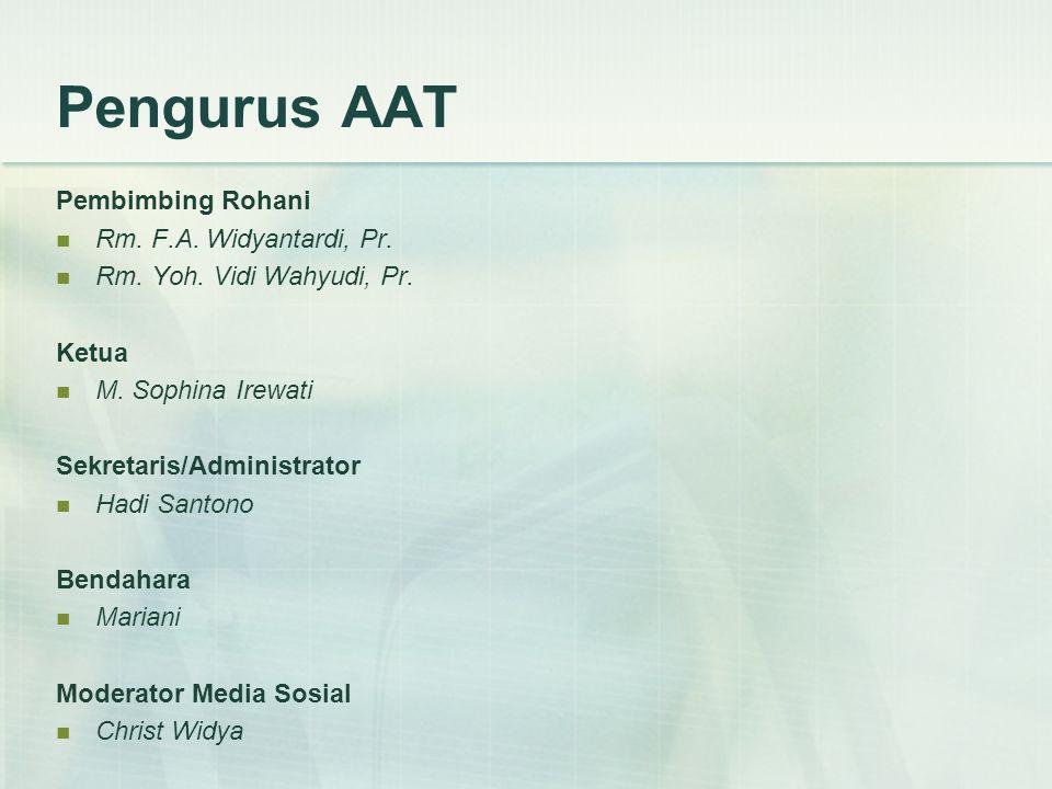 Pengurus AAT Pembimbing Rohani  Rm.F.A. Widyantardi, Pr.
