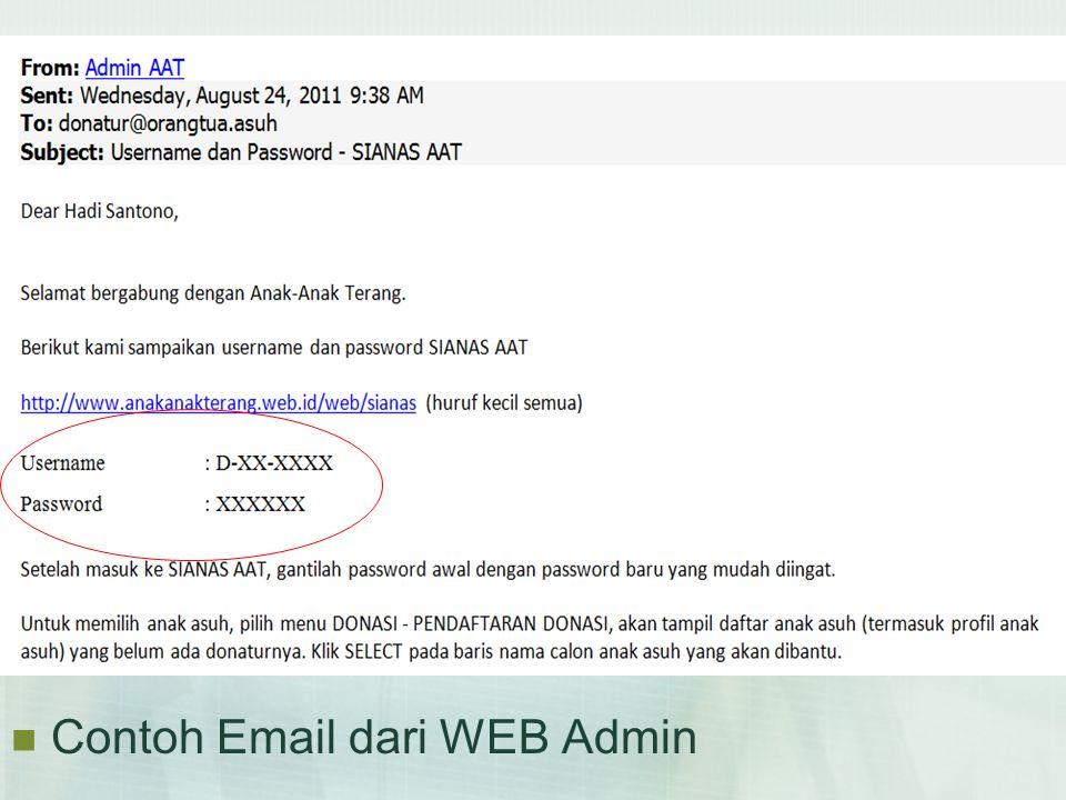  Contoh Email dari WEB Admin