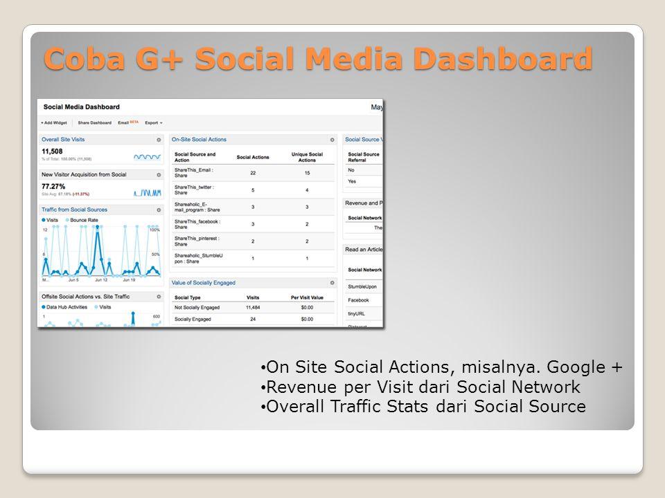 Coba G+ Social Media Dashboard • On Site Social Actions, misalnya.