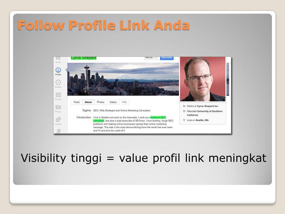 Embed Post Link Di Goolge+ Anda bisa memasukkan link yang langsung mengarah ke post Anda – sebanyak yang Anda inginkan Jika post Anda menjadi viral atau di share oleh high-authority profile, nilai dari link tersebut akan meningkat.